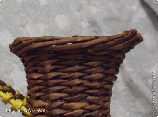 Мастер-класс Плетение: Кувшин руками чайника Бумага газетная, Трубочки бумажные. Фото 23