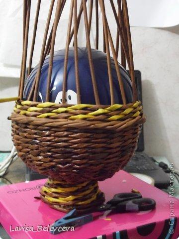 Мастер-класс Плетение: Кувшин руками чайника Бумага газетная, Трубочки бумажные. Фото 10