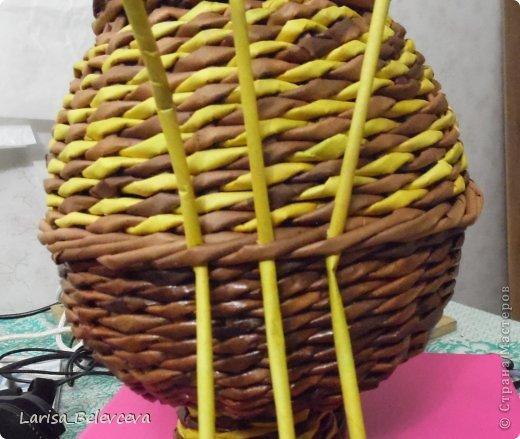 Мастер-класс Плетение: Кувшин руками чайника Бумага газетная, Трубочки бумажные. Фото 18