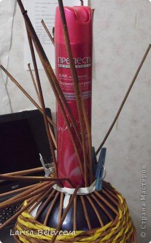 Мастер-класс Плетение: Кувшин руками чайника Бумага газетная, Трубочки бумажные. Фото 12