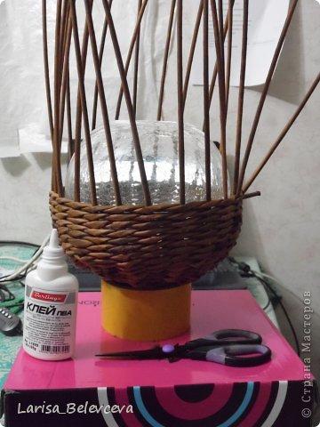 Мастер-класс Плетение: Кувшин руками чайника Бумага газетная, Трубочки бумажные. Фото 6