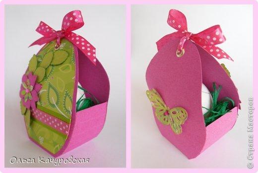 Мастер-класс, Упаковка Вырезание: Пасхальные корзинки Бумага Пасха. Фото 8