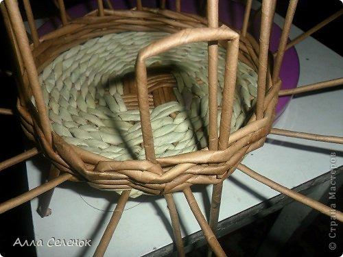 Мастер-класс, Поделка, изделие Плетение: Пасочница.И немного  о том как я её плела. Трубочки бумажные Пасха. Фото 3