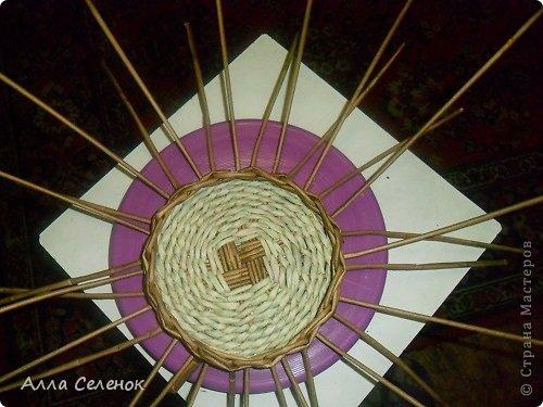 Мастер-класс, Поделка, изделие Плетение: Пасочница.И немного  о том как я её плела. Трубочки бумажные Пасха. Фото 5