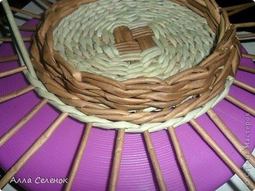Мастер-класс, Поделка, изделие Плетение: Пасочница.И немного  о том как я её плела. Трубочки бумажные Пасха. Фото 6