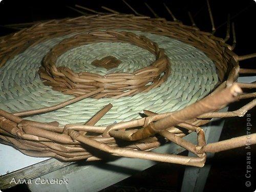 Мастер-класс, Поделка, изделие Плетение: Пасочница.И немного  о том как я её плела. Трубочки бумажные Пасха. Фото 11