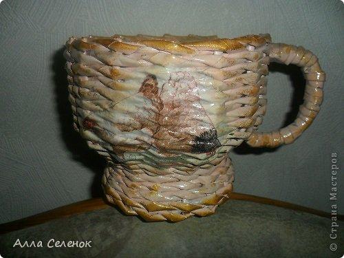 Мастер-класс, Поделка, изделие Плетение: Пасочница.И немного  о том как я её плела. Трубочки бумажные Пасха. Фото 17