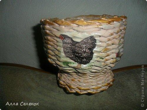 Мастер-класс, Поделка, изделие Плетение: Пасочница.И немного  о том как я её плела. Трубочки бумажные Пасха. Фото 18