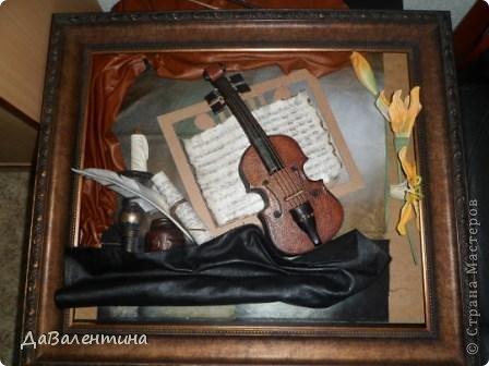 "Мастер-класс Коллаж: Картина из кожи ""Скрипка и Лилии"". Мастер -класс часть 3. Кожа. Фото 5"
