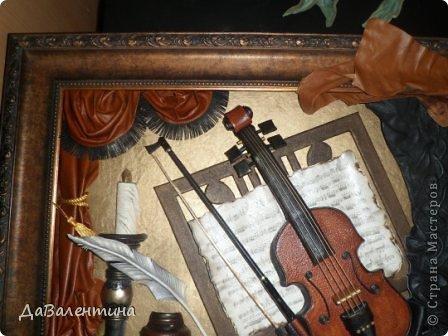 "Мастер-класс Коллаж: Картина из кожи ""Скрипка и Лилии"". Мастер -класс часть 3. Кожа. Фото 22"