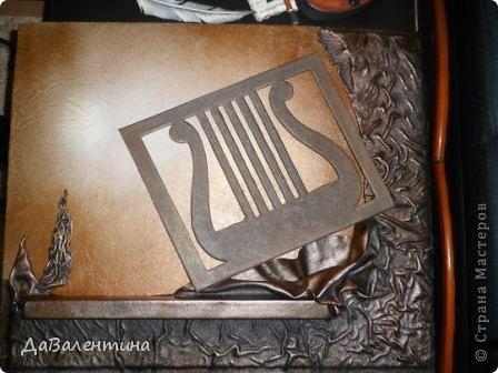 "Мастер-класс Коллаж: Картина из кожи ""Скрипка и Лилии"". Мастер -класс часть 3. Кожа. Фото 49"