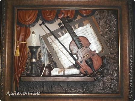 "Мастер-класс Коллаж: Картина из кожи ""Скрипка и Лилии"". Мастер -класс часть 3. Кожа. Фото 51"