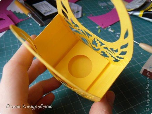 Мастер-класс, Упаковка Вырезание: Пасхальные корзинки Бумага Пасха. Фото 21