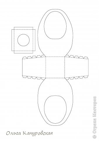 Мастер-класс, Упаковка Вырезание: Пасхальные корзинки Бумага Пасха. Фото 31