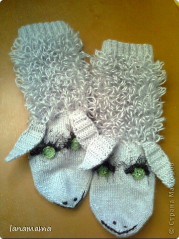Мастер-класс Вязание спицами: Барашки для Наташки Пряжа. Фото 9