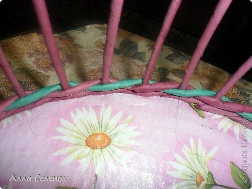 Мастер-класс, Поделка, изделие Плетение: Очередная плетеночка.И небольшой МК. Бумага газетная, Трубочки бумажные Отдых. Фото 5