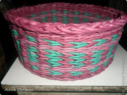 Мастер-класс, Поделка, изделие Плетение: Очередная плетеночка.И небольшой МК. Бумага газетная, Трубочки бумажные Отдых. Фото 8