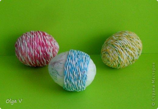 Декор предметов, Мастер-класс Декупаж, Квиллинг: Мой декор пасхальных яиц. Мини МК. Бумажные полосы, Картон, Кружево, Салфетки, Скорлупа яичная Пасха. Фото 6
