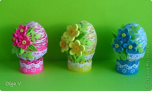 Декор предметов, Мастер-класс Декупаж, Квиллинг: Мой декор пасхальных яиц. Мини МК. Бумажные полосы, Картон, Кружево, Салфетки, Скорлупа яичная Пасха. Фото 2