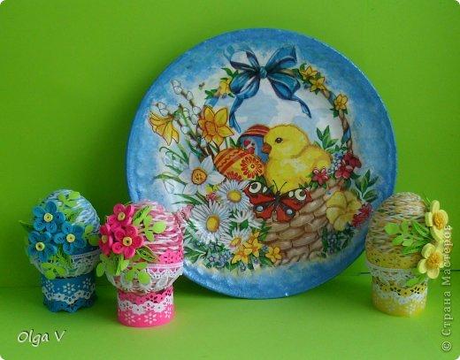 Декор предметов, Мастер-класс Декупаж, Квиллинг: Мой декор пасхальных яиц. Мини МК. Бумажные полосы, Картон, Кружево, Салфетки, Скорлупа яичная Пасха. Фото 1