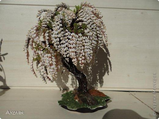 150Белое дерево из бисера мастер класс с пошаговым