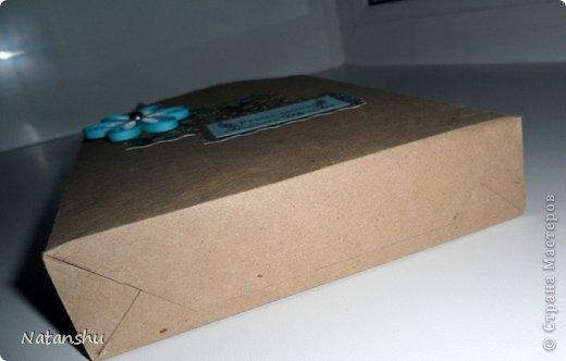 """Мастер-класс Аппликация, Квиллинг: """"Быстрый"""" пакетик для подарка мини МК Бумага, Бумажные полосы, Клей. Фото 4"""