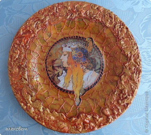 Декор предметов Декупаж Трио Раунд 1 Стекло Тарелки одноразовые фото 1