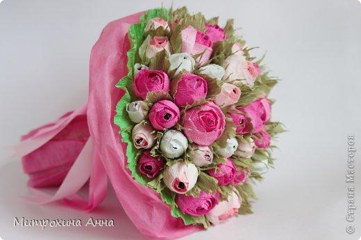 Букет из конфет роз своими руками
