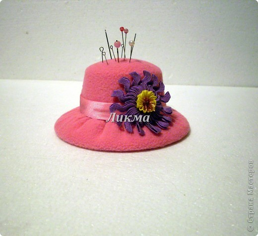 : Шляпка-игольница Ткань. Фото 1