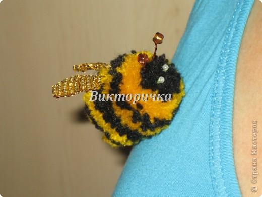 Игрушка, Мастер-класс,  Моделирование, : Пчёлочки, поздравляю ВАС с наступающим Новым годом! Помпоны . Фото 1