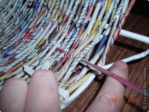 Мастер-класс,  Плетение, : Мастер класс плетения из газеты для новичков Бумага газетная Отдых, . Фото 15