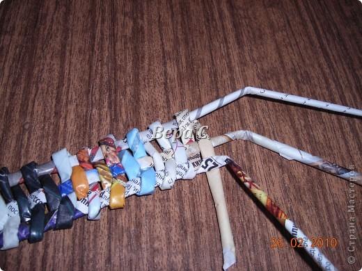 Мастер-класс Плетение: Обещанный МК по плетению рамки из газеты. Бумага газетная Отдых. Фото 6