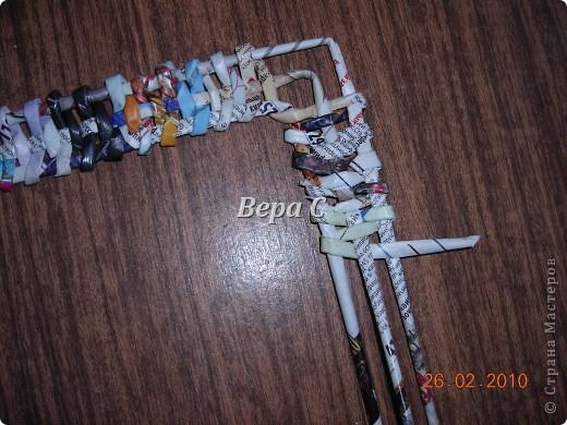 Мастер-класс Плетение: Обещанный МК по плетению рамки из газеты. Бумага газетная Отдых. Фото 8