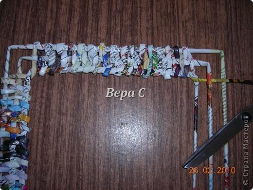 Мастер-класс Плетение: Обещанный МК по плетению рамки из газеты. Бумага газетная Отдых. Фото 9