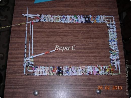 Мастер-класс Плетение: Обещанный МК по плетению рамки из газеты. Бумага газетная Отдых. Фото 10