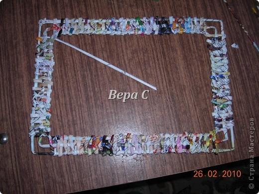 Мастер-класс Плетение: Обещанный МК по плетению рамки из газеты. Бумага газетная Отдых. Фото 12