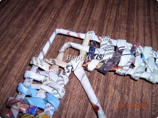 Мастер-класс Плетение: Обещанный МК по плетению рамки из газеты. Бумага газетная Отдых. Фото 20
