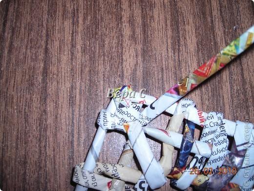 Мастер-класс Плетение: Обещанный МК по плетению рамки из газеты. Бумага газетная Отдых. Фото 24