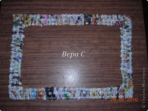 Мастер-класс Плетение: Обещанный МК по плетению рамки из газеты. Бумага газетная Отдых. Фото 25