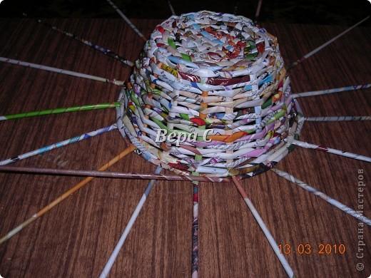 Плетем ,как обычно,на форму до нужной высоты.. Фото 5