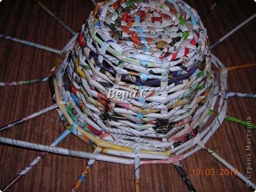 Плетем ,как обычно,на форму до нужной высоты.. Фото 6
