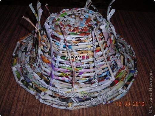 Плетем ,как обычно,на форму до нужной высоты.. Фото 9