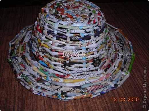 Плетем ,как обычно,на форму до нужной высоты.. Фото 10