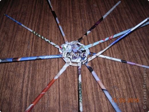 Мастер-класс,  Плетение, :  МК по плетению колокольчиков из газеты Бумага журнальная Отдых, . Фото 3
