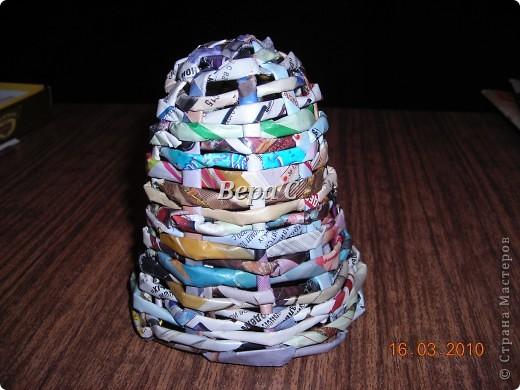 Мастер-класс,  Плетение, :  МК по плетению колокольчиков из газеты Бумага журнальная Отдых, . Фото 10