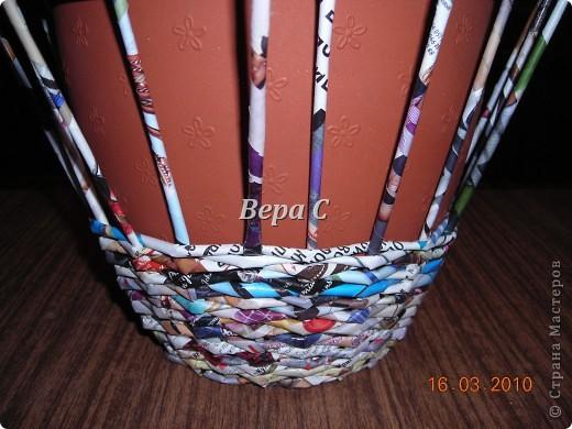 Мастер-класс, Плетение, : МК плетеной курочки к Пасхе под яйца Бумага журнальная Пасха, . Фото 2