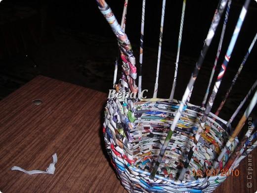 Мастер-класс, Плетение, : МК плетеной курочки к Пасхе под яйца Бумага журнальная Пасха, . Фото 8
