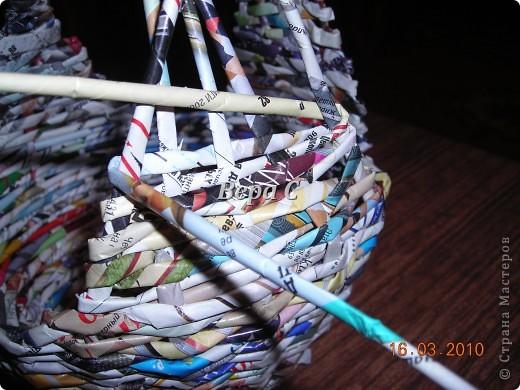 Мастер-класс, Плетение, : МК плетеной курочки к Пасхе под яйца Бумага журнальная Пасха, . Фото 9