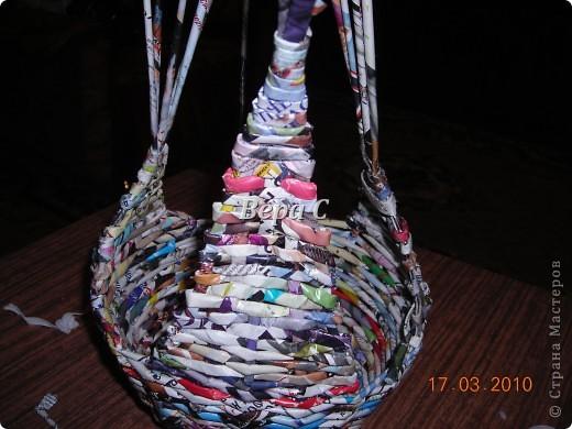 Мастер-класс, Плетение, : МК плетеной курочки к Пасхе под яйца Бумага журнальная Пасха, . Фото 10