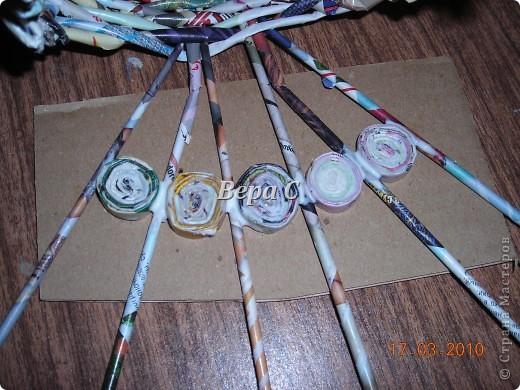 Мастер-класс, Плетение, : МК плетеной курочки к Пасхе под яйца Бумага журнальная Пасха, . Фото 14